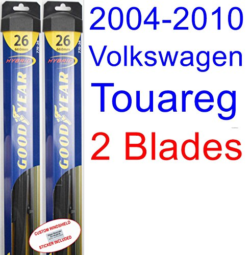 (2004-2010 Volkswagen Touareg Replacement Wiper Blade Set/Kit (Set of 2 Blades) (Goodyear Wiper Blades-Hybrid))
