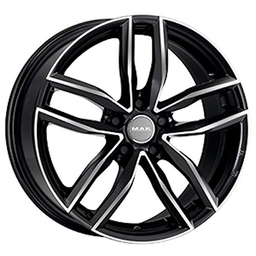 MAK SARTHE W CERCHI IN LEGA BLACK MIRROR 7, 0x17 5x100 Mak Wheels F7070RDBM38PE2X