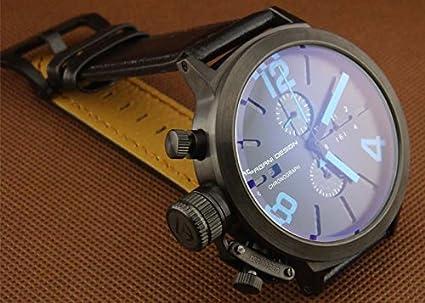 7d8640930fbd4 Pagani Motif 50 mm PVD Coque Mouvement à quartz japonais chronographe  montre pour homme avec toutes les marques de Bleu de qualité supérieure  1089: ...