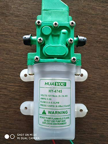 Amazon price history for 4747 DC 12V 80W 5.5 lt 120 PSI Micro Electric Diaphragm Water Pump High Pressure Car Washing Spray Automatic Switch