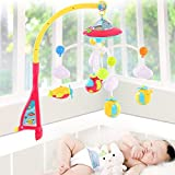 ICW Baby Bed Bell Musical Mobile Crib Dreamful Bed Ring Hanging Rotate Bell Rattle Intelligence Educational Toy With Remote control