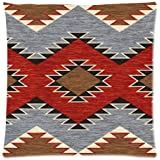 Vintage Southwest Native American Throw Pillow Case Sofa Bed Home Decor Cushion Cover 18x18 (twin sides) Zippered