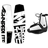 Hyperlite Wakeboard Agent 2018 with Destroyer Wakeboard Bindings Fits Most Shoe Sizes