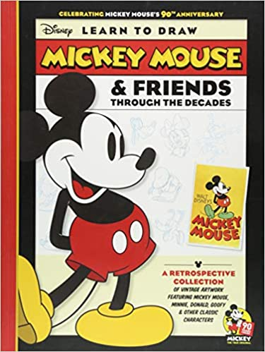 Amazon Com Learn To Draw Mickey Mouse Friends Through The Decades