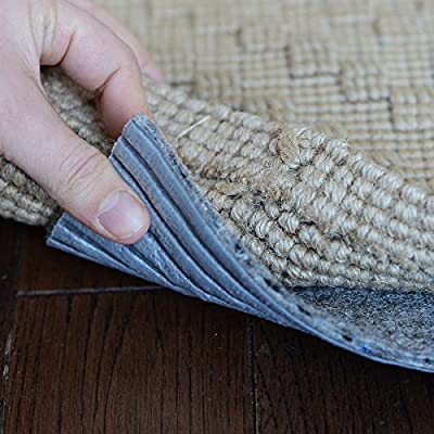 """2.5' x 9' Eco-Fiber Touch Non Slip Rug Pad 1/4"""" Thick - SAFE for all floors"""
