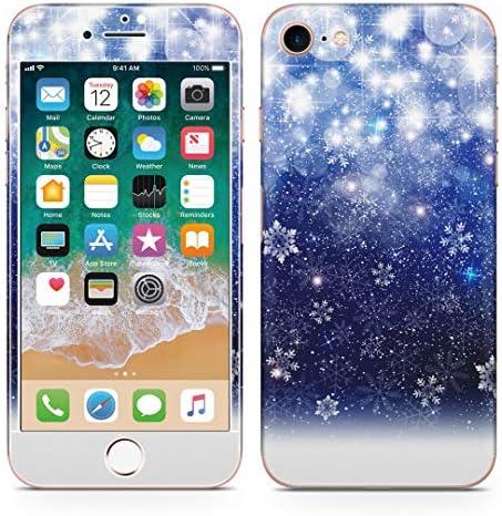 igsticker iPhone SE 2020 iPhone8 iPhone7 専用 スキンシール 全面スキンシール フル 背面 側面 正面 液晶 ステッカー 保護シール 012825 空 夜空 雪