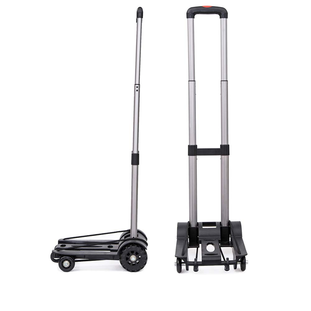 LF Folding Compact Lightweight Durable Luggage Cart Travel Trolley | Quiet Wheeling Sports & Medical Equipment Carrier