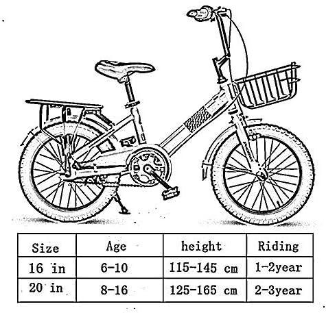 YSA キッズバイク、子供用自転車16/18/20インチの男の子と女の子のサイクリング6〜16歳の子供に適したサイクリングブルー、グリーン、ピンク