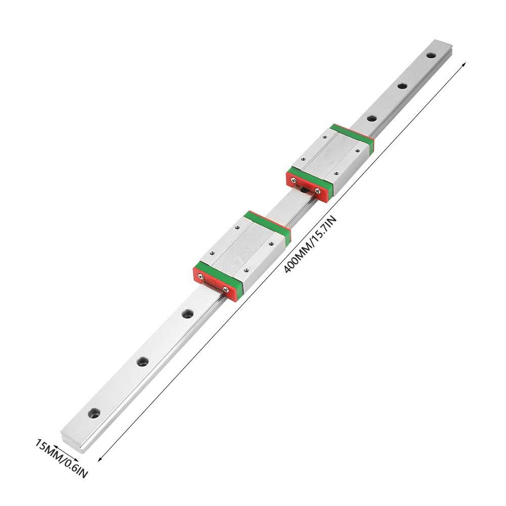 rail de guidage lin/éaire Rail lin/éaire LML15H Rail de guidage lin/éaire 400 mm avec 2 blocs dextension