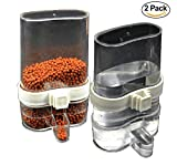 Power of Dream Pack of 2 Bird Feed Water Dispenser, Tidy Seed Food Tube,Transparent Clear Plastic Water 200 ML, For Small Pet Rat Hamster Rabbit (Pack 2)