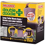 Reliance Products Double Doodie Plus Large Toilet Waste Bags (6-Pack)