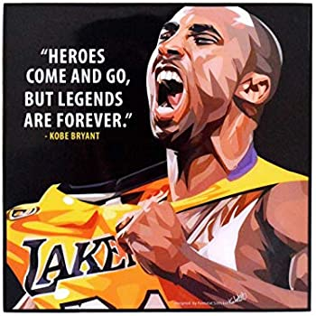 Pop Art Famous Basketball Player Inspiration Quotes [ Kobe Bryant ] Framed Acrylic Canvas Poster Prints Artwork Modern Wall Decor, 10