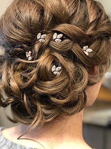 (Aegenacess 5Pcs Wedding Hair Decorative Pins Side Set- Crystal Rhinestones Bridal Vine Clip Bridesmaids Gift Accessories for Bride Women (Silver)