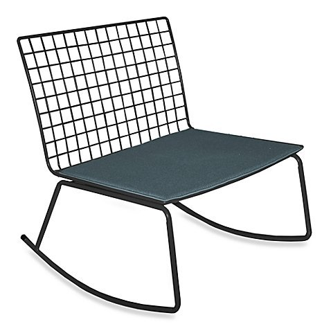 Idea Nuova Modern Rocking Chair in Black