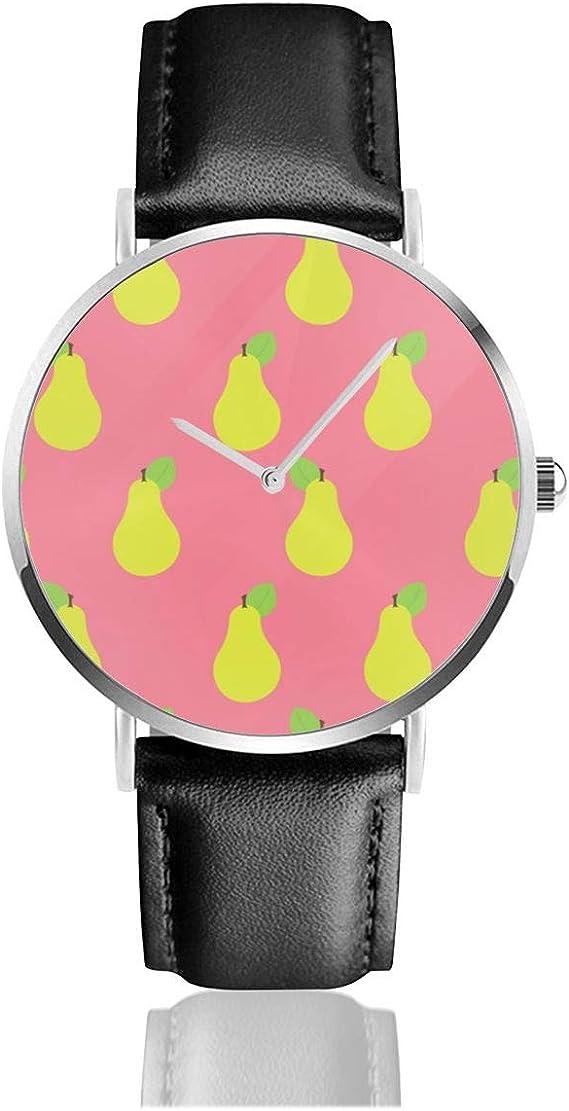 Reloj de Pulsera de Cuarzo con diseño de Pera, Color Rosa y Casual ...