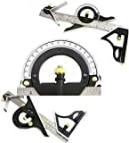 Scale Stainless Steel Protractor Double 180 Degree & 12-Inch Combination Tri-Square Set 12'' SS Combination Ruler Level High Performance Tool - Skroutz