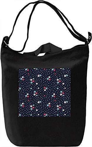 Flowers Pattern Borsa Giornaliera Canvas Canvas Day Bag  100% Premium Cotton Canvas  DTG Printing 
