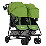 ZOE XL2 BEST v2 Lightweight Double Travel & Everyday Umbrella Twin Stroller System (Lime Green) For Sale