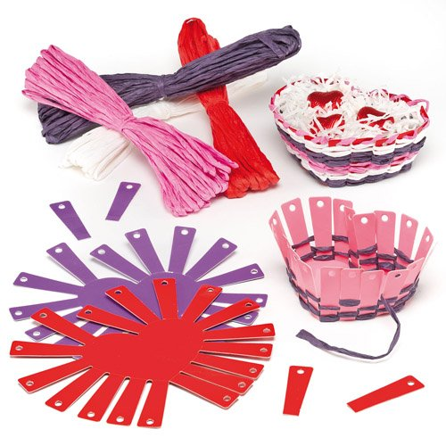Heart Basket Weaving Kits for Children to Decorate with Love for Mother's Day or Valentine ...