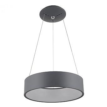 Led Pendelleuchte Hohenverstellbar Rund Hangelampe Modern Grau