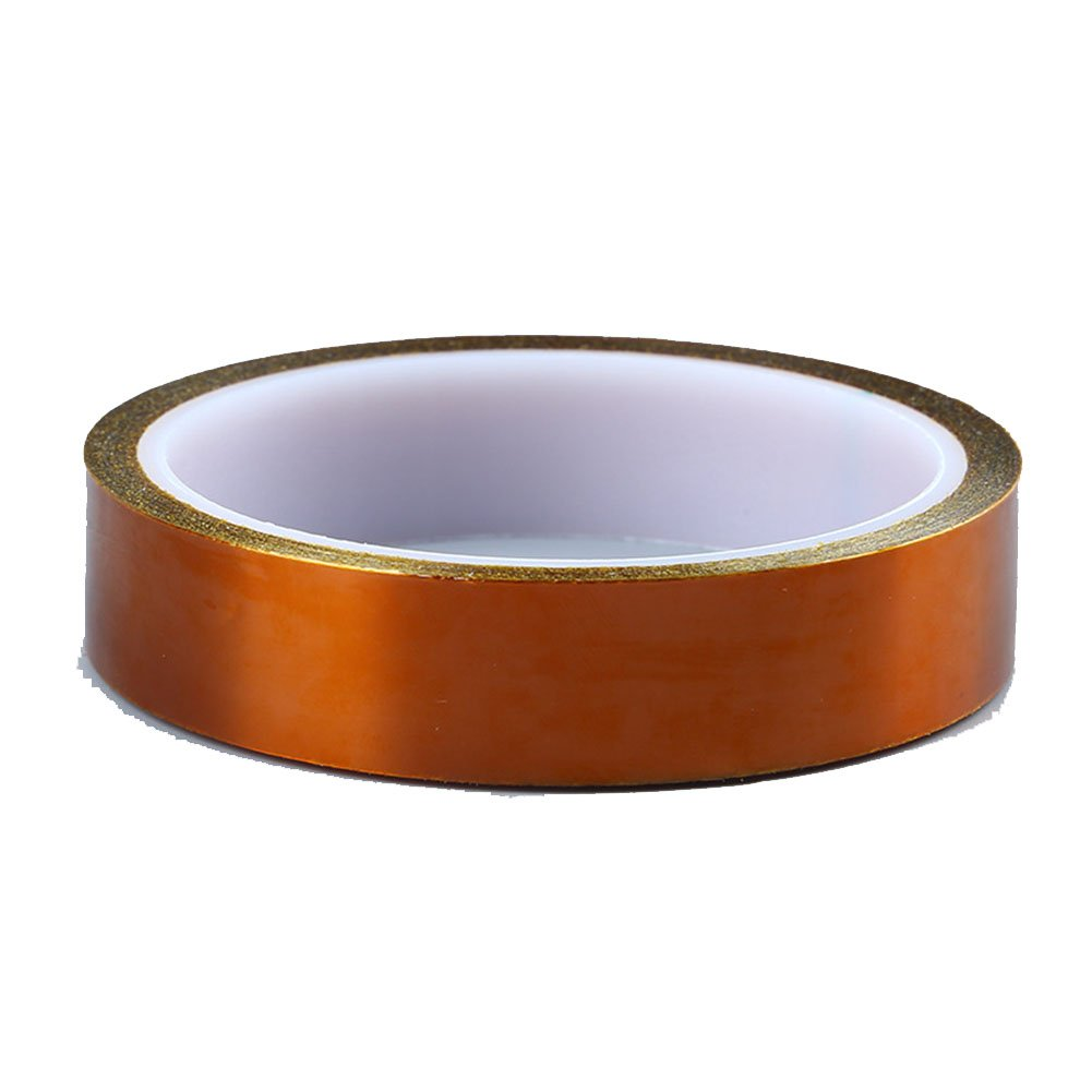 Hosaire High Temperature Tape 3 Size 10mm 20mm 30mm/100ft Heat Resistant Tape Kapton Tape Polyimide Film Adhesive Tape