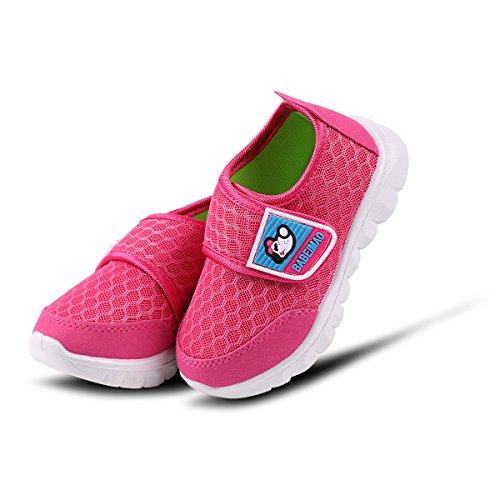 Outdoor Weiche Kinderschuhe Mesh Atmungsaktiv Sportschuhe Mädchen Jungen Turnschuhe Sneaker Leicht Freizeit Baby Schuhe Laufschuhe Rot