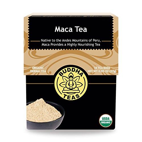 Organic Maca Root Tea - Kosher, Caffeine-Free, GMO-Free - 18 Bleach-Free Tea Bags