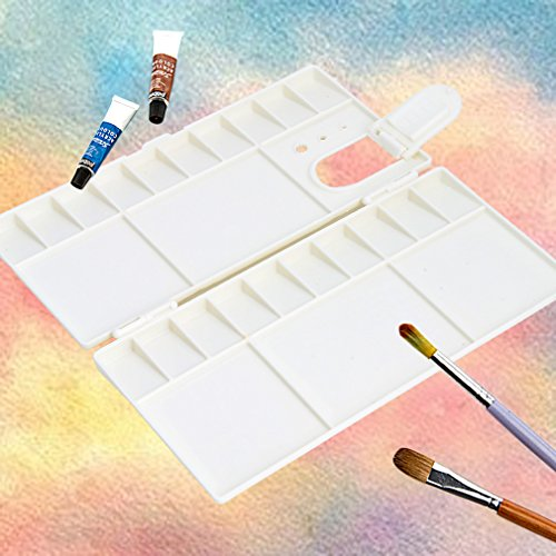 Kocome 25 Grids Large Art Paint Tray Artist Oil Watercolor Plastic Palette White by Kocome (Image #1)