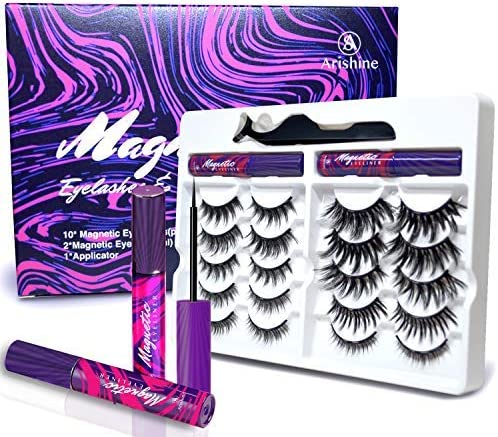 Arishine 3D 5D Magnetic Eyelashes with Eyeliner Comes With Applicator No Glue Needed WAS £18.99 NOW £9.5 @ Amazon