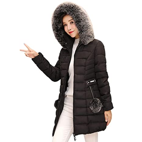 c9349075391ef Amazon.com: Clearance Women Coat COPPEN Hooded Outwear Warm Long Christmas  Fur Collar Cotton Parka Slim Jacket: Musical Instruments