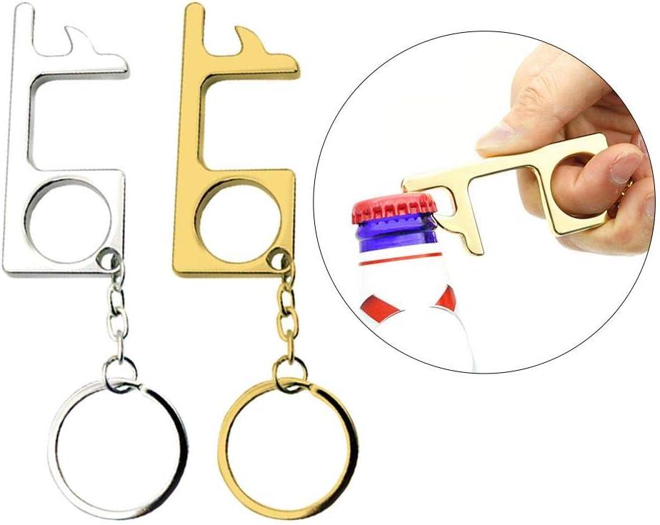 Shantan Non-Contact EDC Door Opener Portable Hygiene Door Opening Stick Stylus Press Elevator Keychain Tool