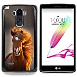 - Mane Horse Golden Brown Summer/ Hard Snap On Cell Phone Case Cover - Cao - For LG G Stylo / LG LS770 / LG G4 Stylus