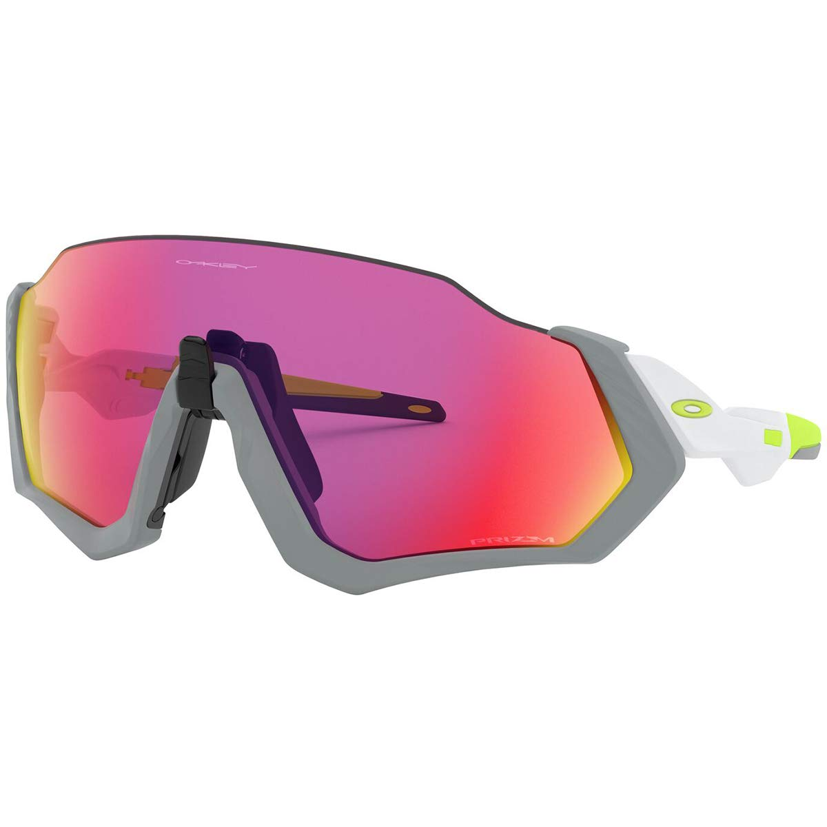 Oakley Men's Flight Jacket Sunglasses,OS,Matte Fog/Prizm Road by Oakley