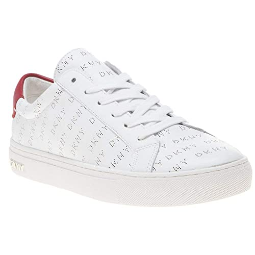 most popular excellent quality to buy DKNY Court Lace Up Sneaker Trainers White: Amazon.co.uk: Shoes & Bags