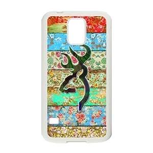Custom phone shell Browning Cutter Logo Woodgrain Background Deer Flower Case for Samsung Galaxy S5