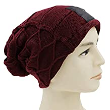MJ-Young Trendy Warm Oversized Chunky Soft Stretch Cable Knit Slouchy Beanie