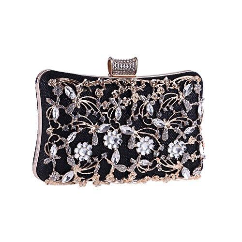 Bag Crystal Prom Jelinda Womens Purse Party Clutch Bag Black Wedding Evening Bridal Handbag fPxqgxw8