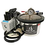 ABLAZE 1.5 Gallon Stainless Steel Vacuum Degassing Chamber and 3 CFM...