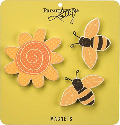 - Springtime Bees & Sunshine Magnets - Set of 3