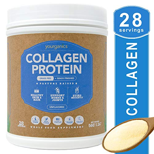Collagen Protein Powder YOURGANICS | Keto & Paleo Friendly, Hydrolyzed Bovine Collagen Peptides | Grass-Fed, Pasture Raised, Non GMO, Non Dairy, Gluten & Sugar Free, Unflavored (20oz Bottle) Review