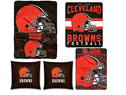 Amazon The Northwest Company NFL Cleveland Browns 40pc Ensemble Inspiration Nfl Blankets And Throws