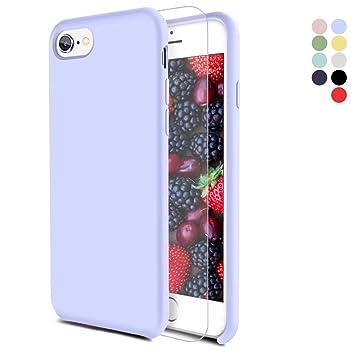 Feyten Funda iPhone 6/ iPhone 6S [Cristal Vidrio Templado], Slim Líquido de Silicona Gel Carcasa Anti-Rasguño Protectora Caso para Apple iPhone ...