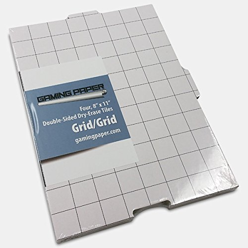 4 Pack Gaming Paper Wet/Dry Erase Tiles 1