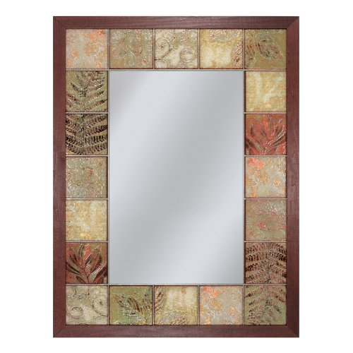 Head West Leaf Sand Tile Mirror, elegant glass mirror