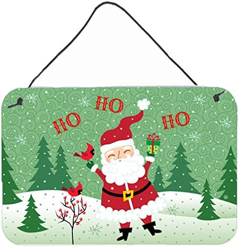 Carolines Treasures Merry Christmas Santa Claus Ho Wall or Door Hanging Prints VHA3016DS812 8 x 12 Multicolor
