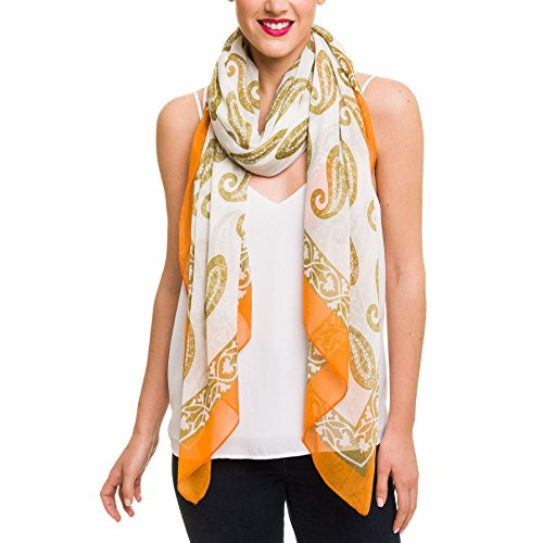 (Scarf for Women Lightweight Paisley Fashion Fall Winter Scarves Shawl Wraps (SS09))