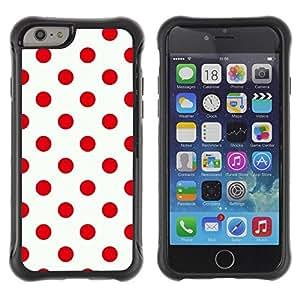 "Hypernova Defender Series TPU protection Cas Case Coque pour Apple Iphone 6 PLUS 5.5 [Modelo rojo del lunar Diseño Limpio""]"