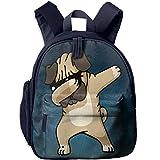 Dabbing Pug Hip Hop Elementary School Bags Bookbag Backpacks Shoulder Bag Backpack For Kids