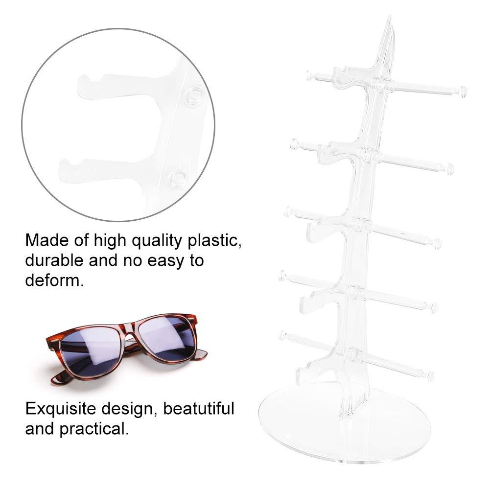 transparent 5 paires de lunettes en plastique /étag/ère lunettes de soleil pr/ésentoir support de stockage rack vente spectacle vitrine