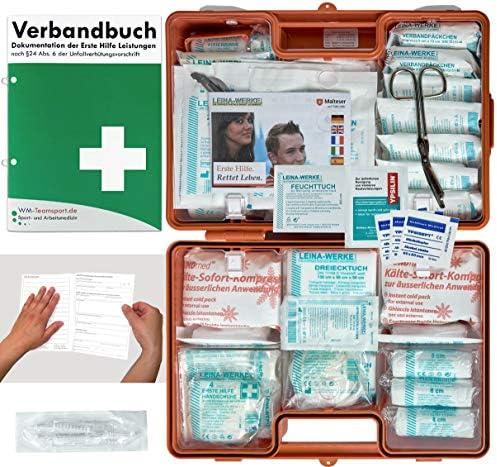 Verbandskoffer Verbandskasten G Erste Hilfe Nach Din 13169 Für Betriebe Dsgvo Inkl Perforiertem Verbandbuch Baumarkt